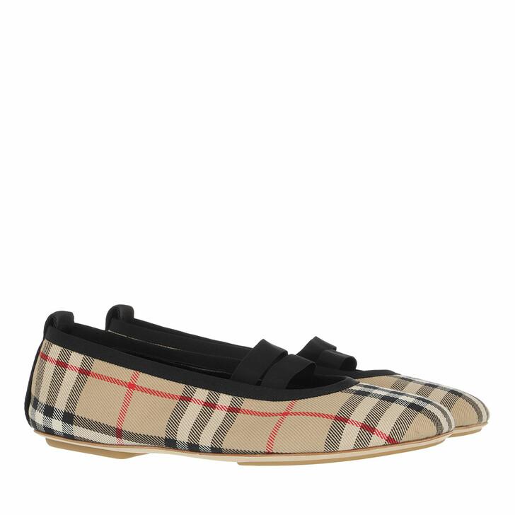 shoes, Burberry, Grace Ballet Flats Archive Beige