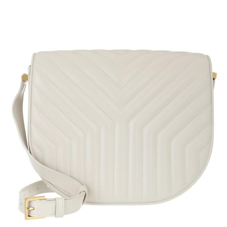 Handtasche, Saint Laurent, Joan Satchel Y-Quilted Leather Crema
