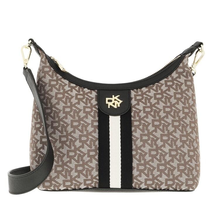 bags, DKNY, Carol Md Pouchette Chino Black