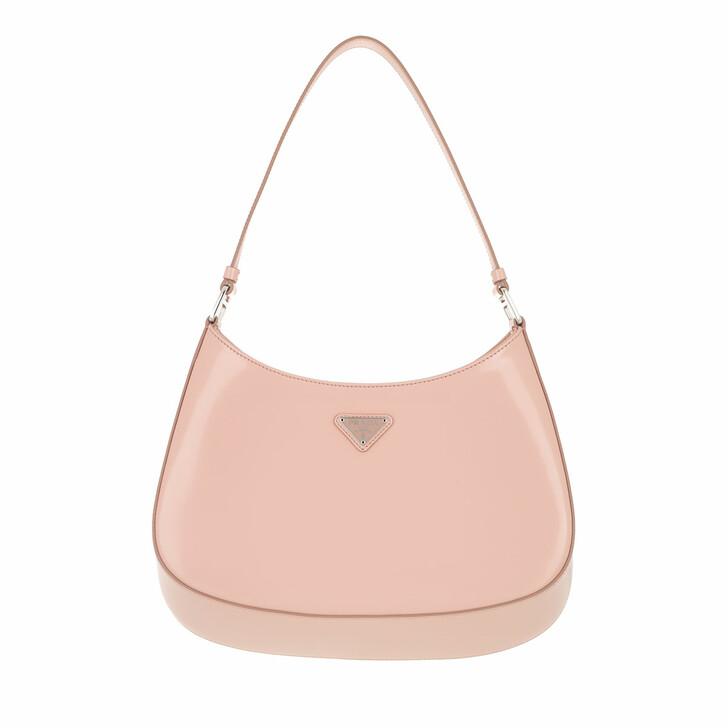 Handtasche, Prada, Cleo Shoulder Bag Brushed Leather Orchidea
