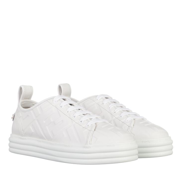Schuh, Fendi, Logo Allover Sneaker White