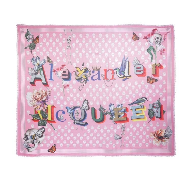 scarves, Alexander McQueen, Biker Shawl Pink/Ivory