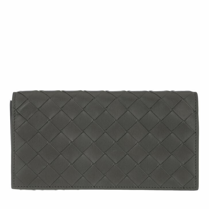 Geldbörse, Bottega Veneta, Continental Wallet Leather Light Graphite