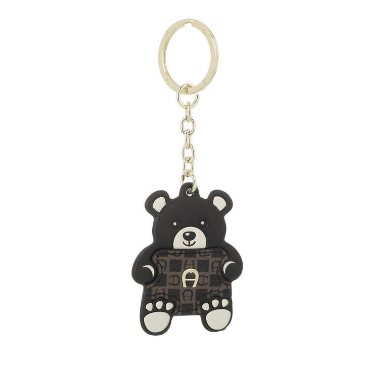 keyrings, AIGNER, Fashion Keychain Teddybear Black
