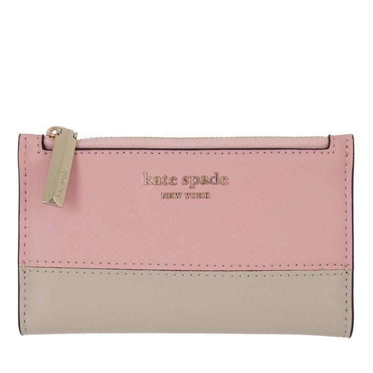 wallets, Kate Spade New York, Small Slim Bifold Wallet Tutupink/Crsp Linen