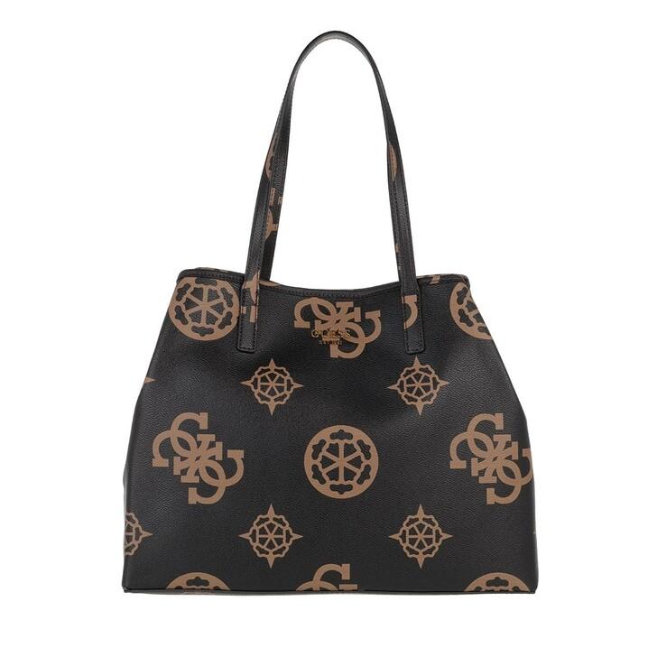 bags, Guess, Vikky Large Tote Mocha Logo