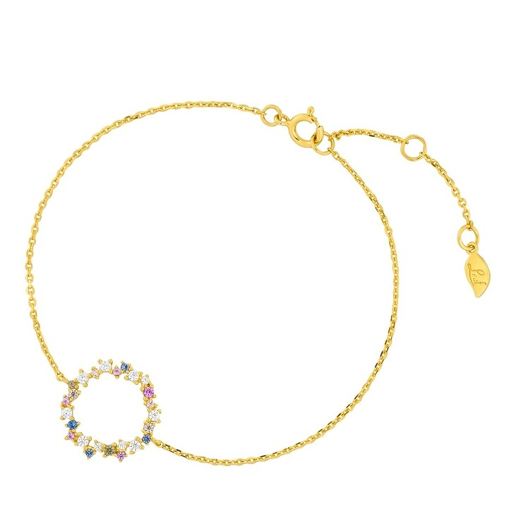 bracelets, Leaf, Bracelet Candy Sterlingsilver Gold