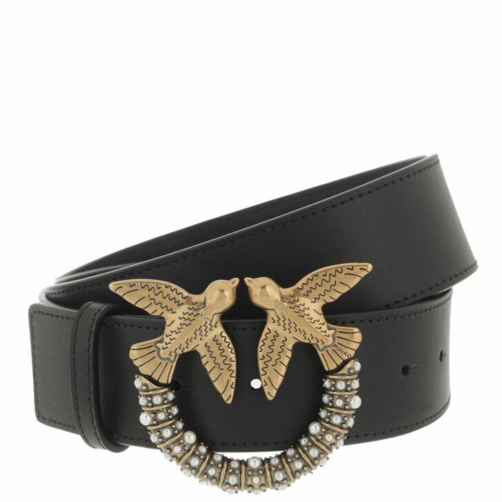belts, Pinko, Love Jewel Hips Simply Belt H4 Nero Limousine