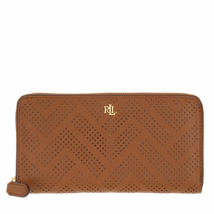 wallets, Lauren Ralph Lauren, Zip Cont Wallet Large Lauren Tan