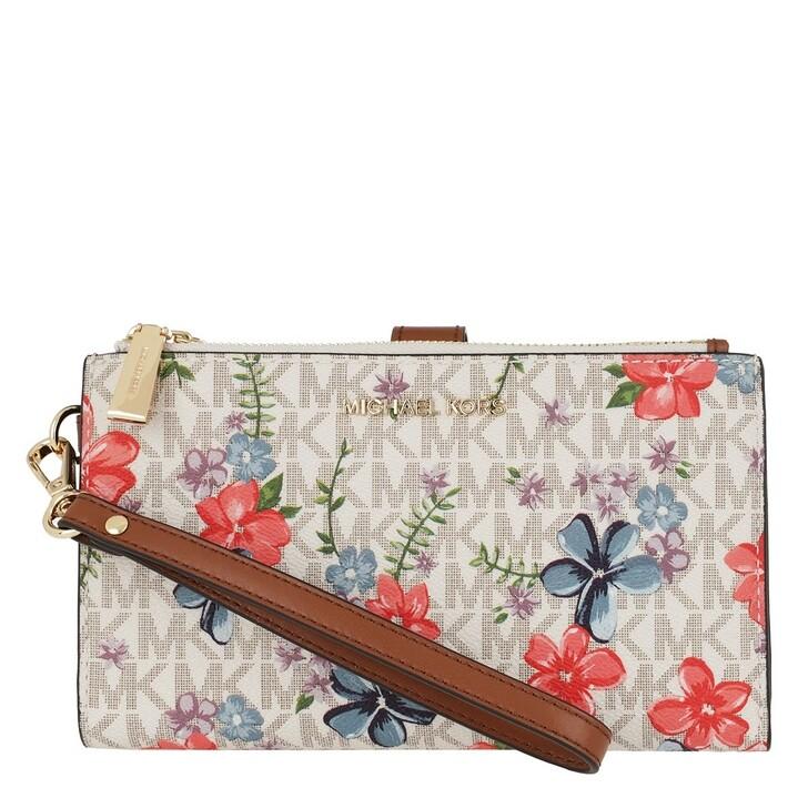 Handtasche, MICHAEL Michael Kors, Jet Set Doublezip Wristlet Vanilla Multi