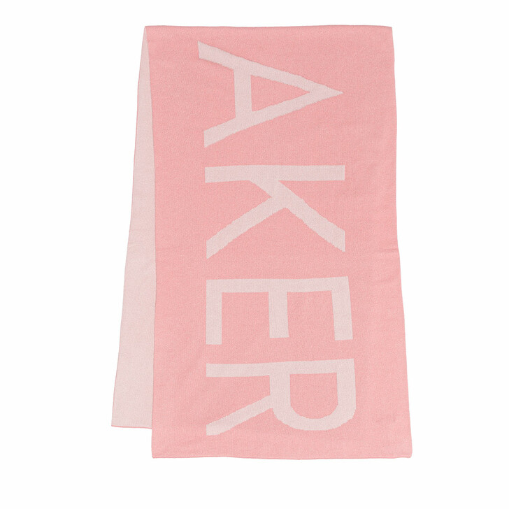 scarves, Ted Baker, Wxv Fireiy Branded Jacquard Knitted Scarf Pink