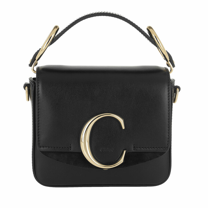 Handtasche, Chloé, C Bag Mini Leather Black