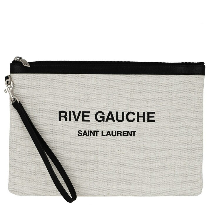 Handtasche, Saint Laurent, Rive Gauche Zippered Pouch White/Black