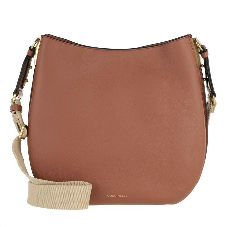 bags, Coccinelle, Arpege Handbag Double Grainy Leather / Cinnamo/Che Cinnamo/Chestnu
