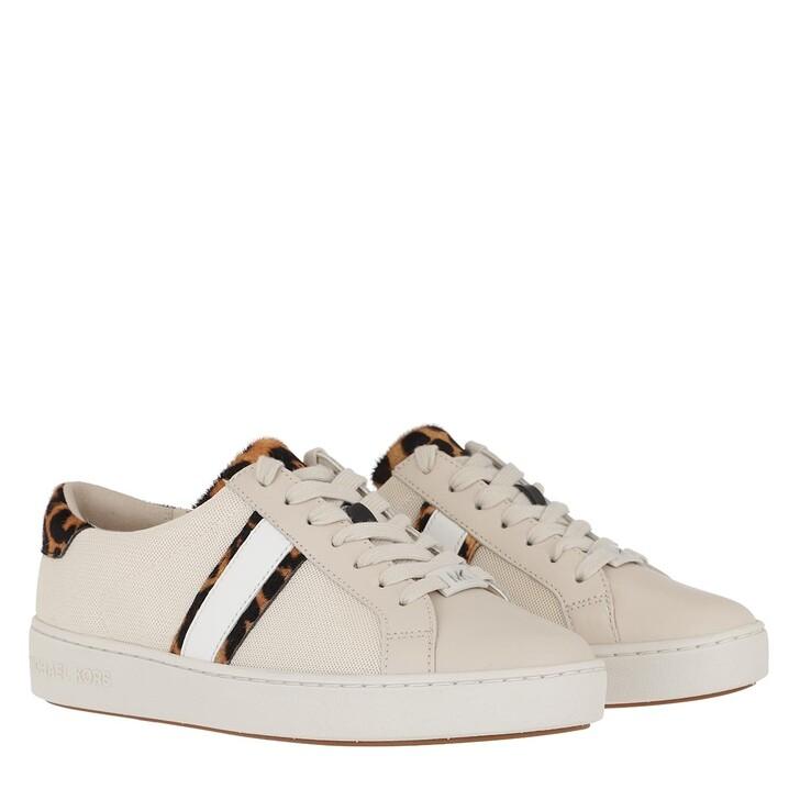 Schuh, MICHAEL Michael Kors, Irving Stripe Lace Up Sneaker Ecru