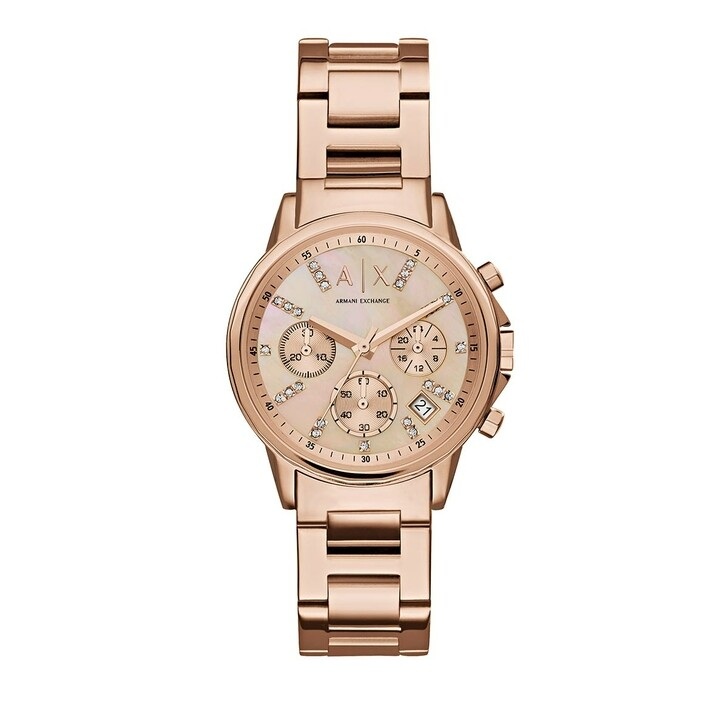 watches, Armani Exchange, Chronograph Stainless Steel Watch Rose Gold-Tone