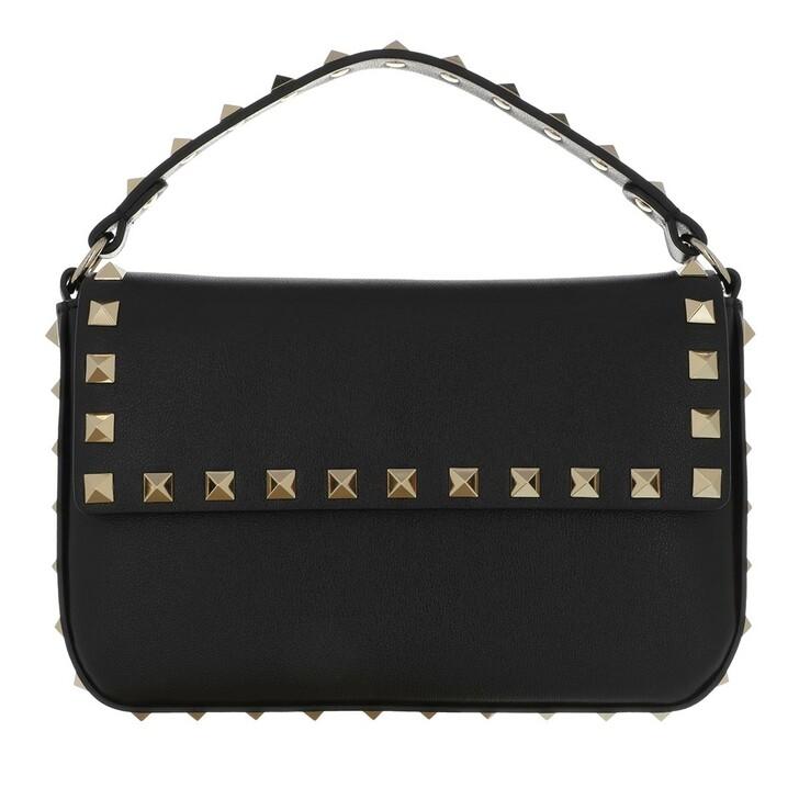 bags, Valentino Garavani, Rockstud Pouch Bag Leather Black