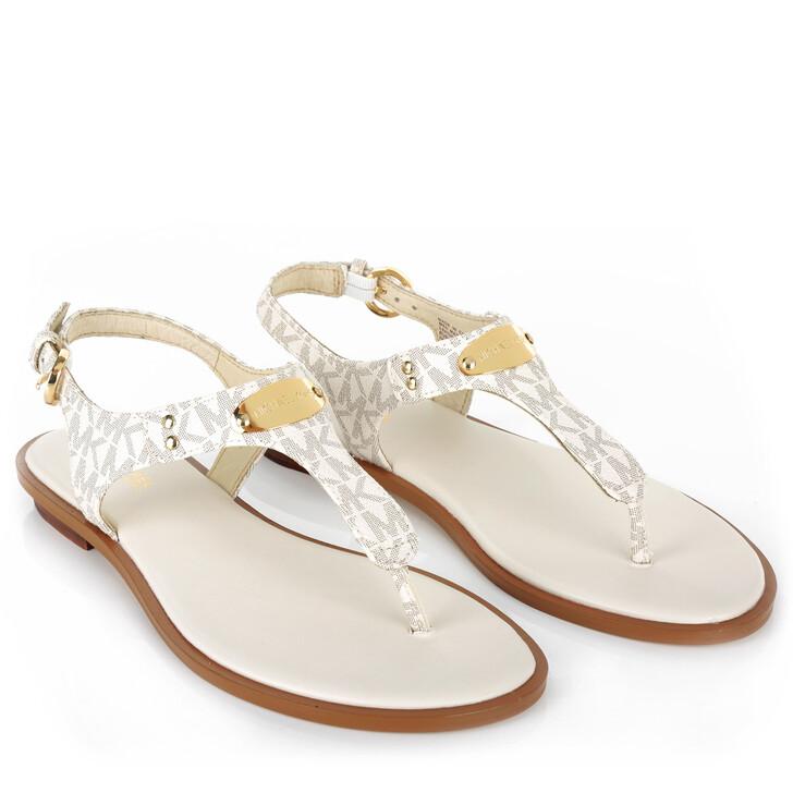 Schuh, MICHAEL Michael Kors, MK Plate Thong Sandal Vanilla
