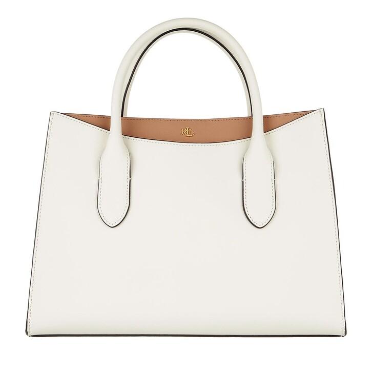 bags, Lauren Ralph Lauren, Emery 31 Satchel Medium Vanilla/Nude