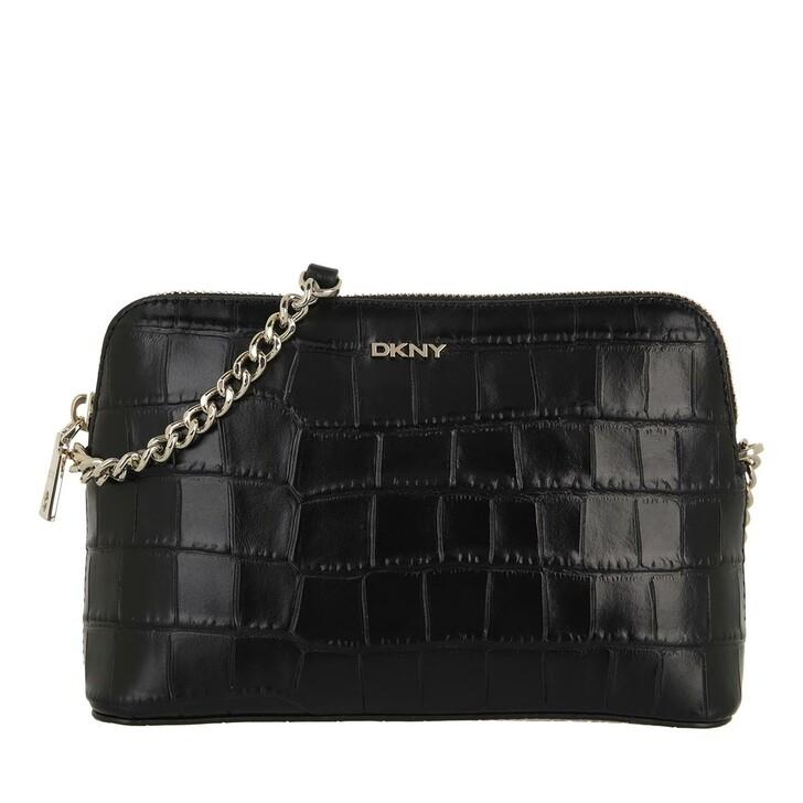 bags, DKNY, Bryant Dome Crossbod Black Gold