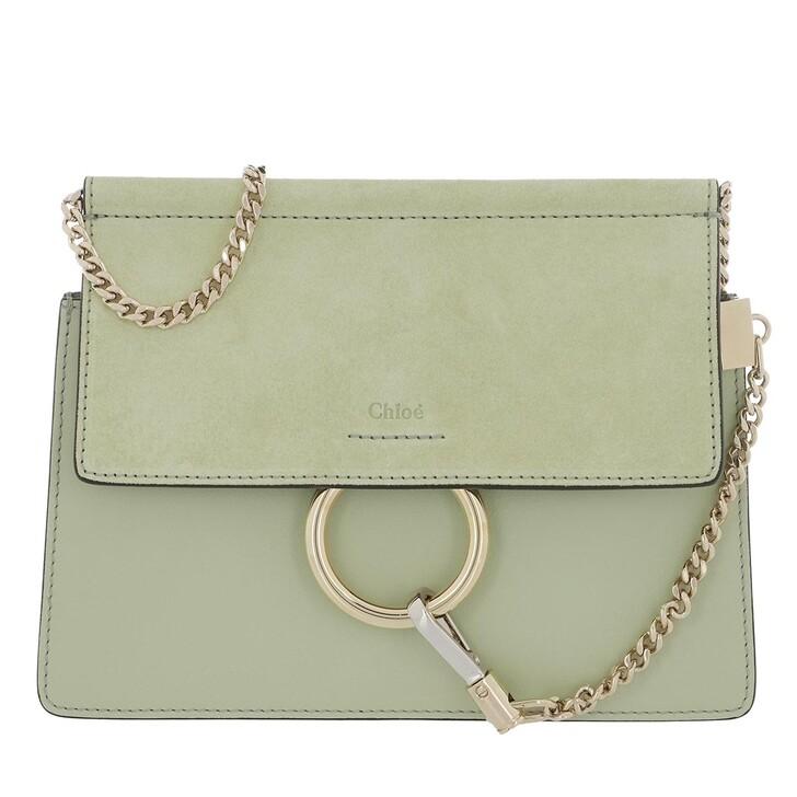 Handtasche, Chloé, Faye Mini Flap Shoulder Bag Light Eucalyptus