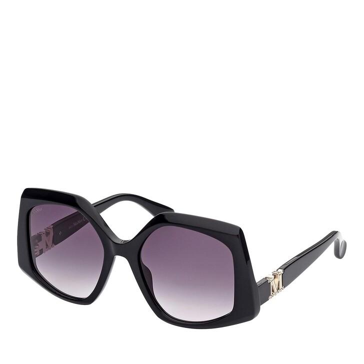 Sonnenbrille, Max Mara, MM0012 Shiny Black /Gradient Smoke