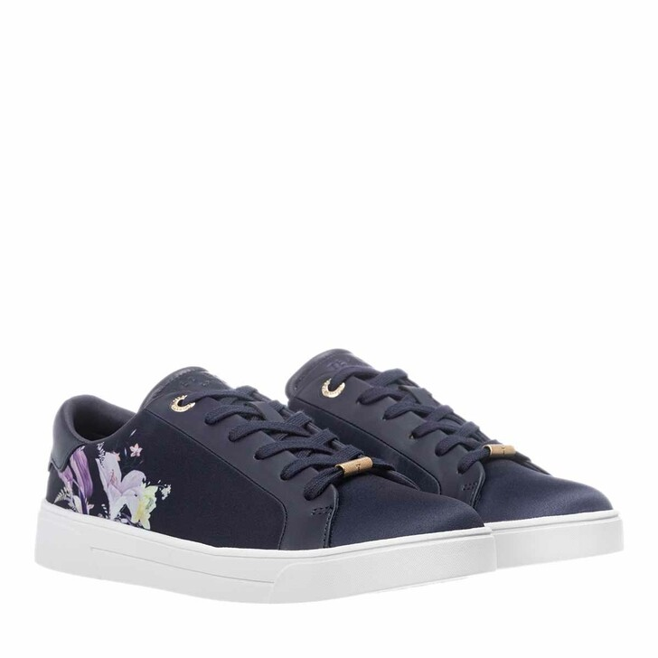 shoes, Ted Baker, Delylan Decadence Satin Trainer Navy