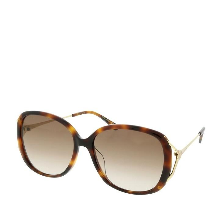 Sonnenbrille, Gucci, GG0649SK-004 58 Sunglasses Havana-Gold-Brown