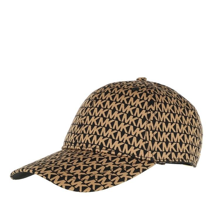 Mütze, MICHAEL Michael Kors, Mk Logo Prnt  Black/Camel