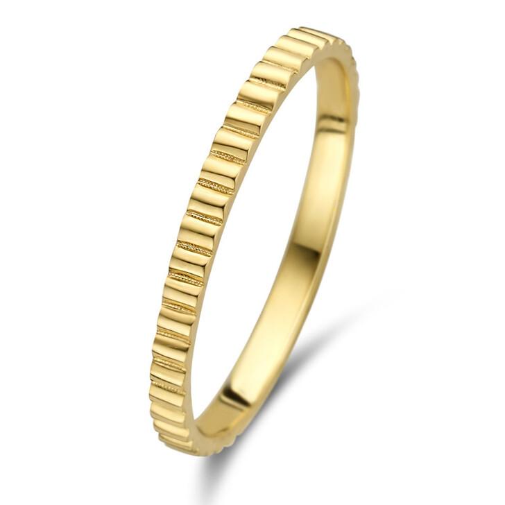 rings, Isabel Bernard, Le Marais Montgallet 14 Karat Ring Ribbed