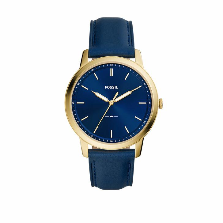 Uhr, Fossil, Men The Minimalist Three-Hand Leather Watch Blue