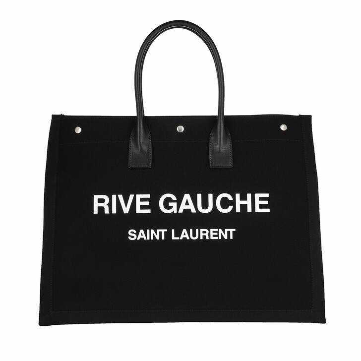 Handtasche, Saint Laurent, Men Rive Gauche Tote Bag Black/White