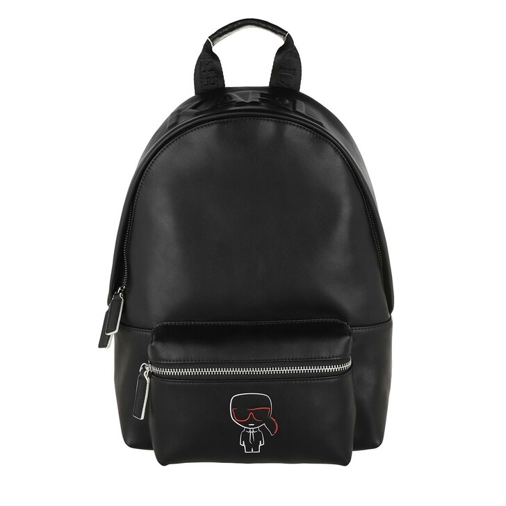 bags, Karl Lagerfeld, Ikonik Outline Backpack Black
