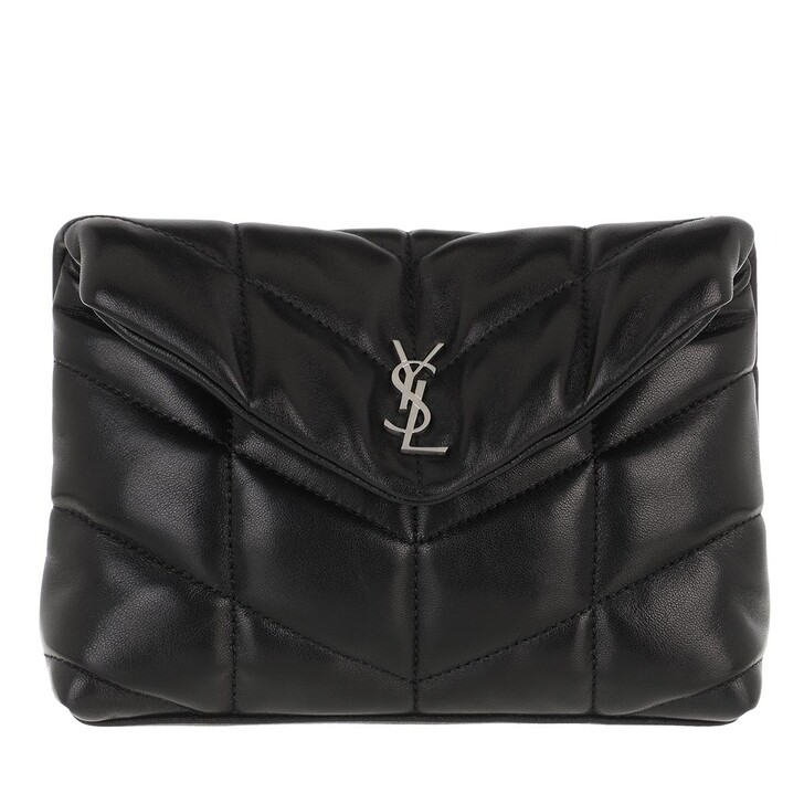 Handtasche, Saint Laurent, LouLou Puffy Medium Pouch Black