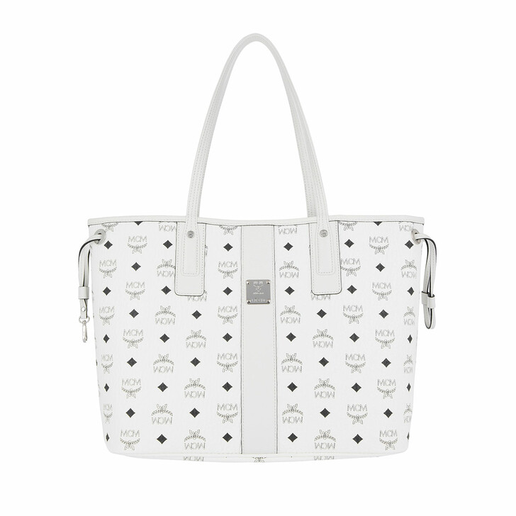 Handtasche, MCM, Project Visetos Liz Shopper White