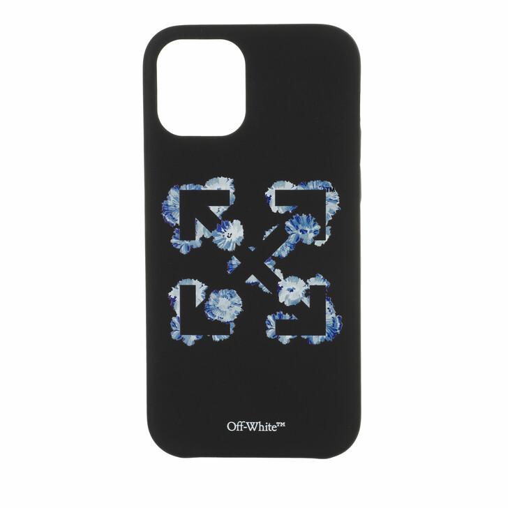 smart_cases, Off-White, Floral Arrows Iphone 12 Black/Blue
