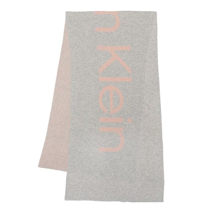 scarves, Calvin Klein, Eco Knit Scarf Mid Grey Heather