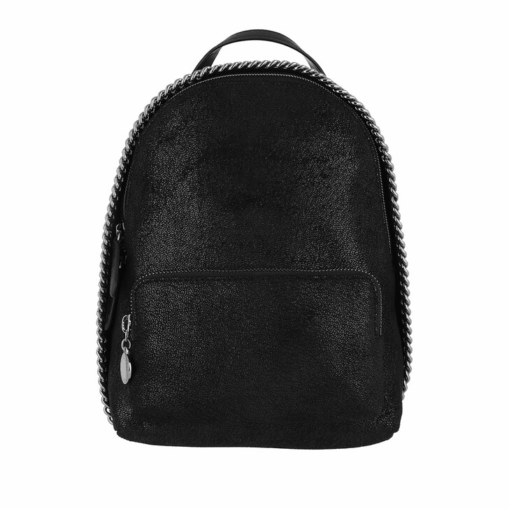 Reisetasche, Stella McCartney, Falabella Mini Zip Around Backpack Shaggy Deer Black