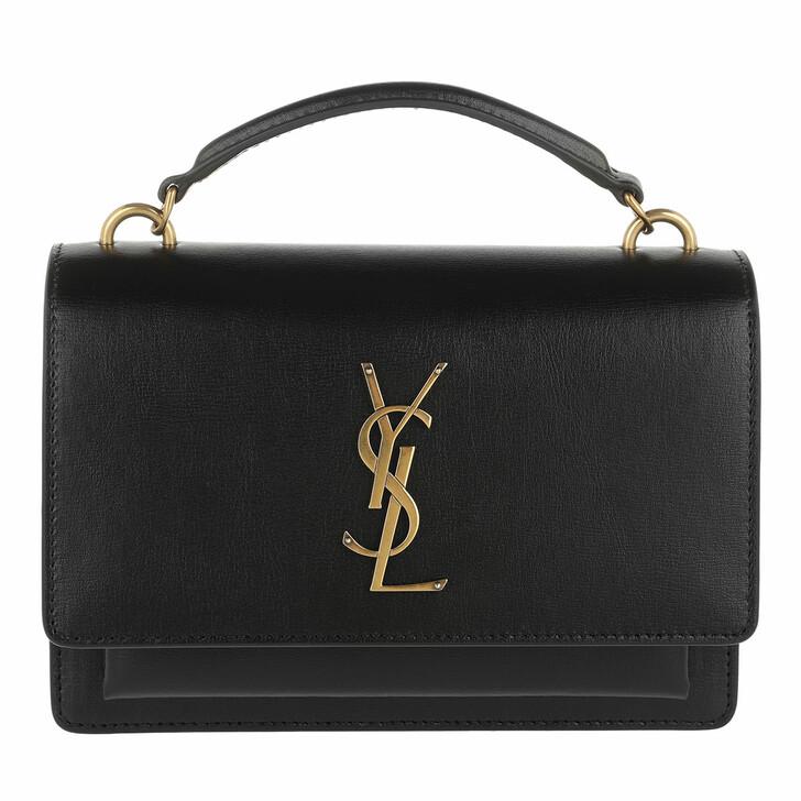 Handtasche, Saint Laurent, Wallet On Chain Monogramme Leather Black