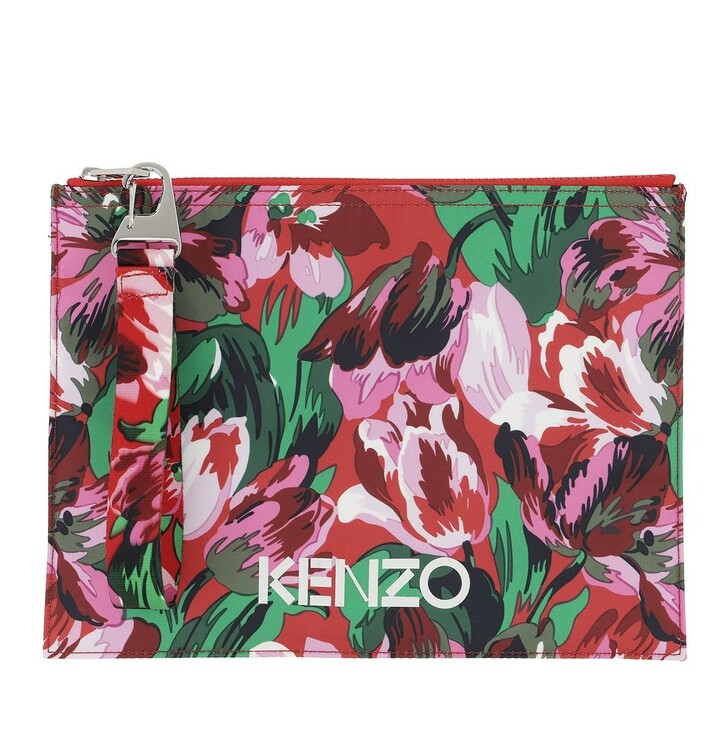 Geldbörse, Kenzo, Vans X Kenzo Pouch Medium Red