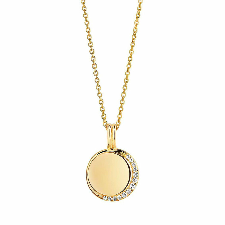 necklaces, Sif Jakobs Jewellery, Portofino Pendant And Chain 70-90 cm 18K Yellow Gold Plated