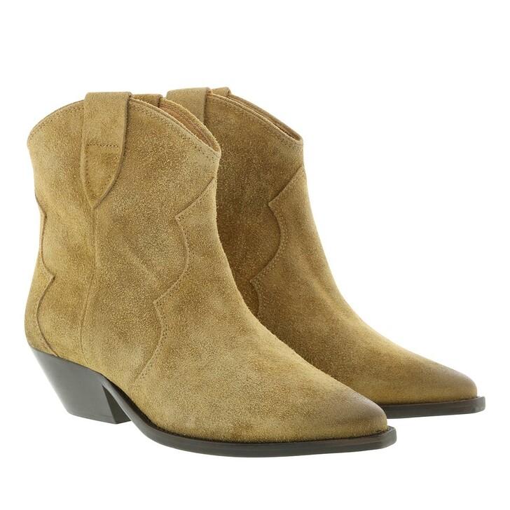 Schuh, Isabel Marant, Boots Used Look Velvet Beige