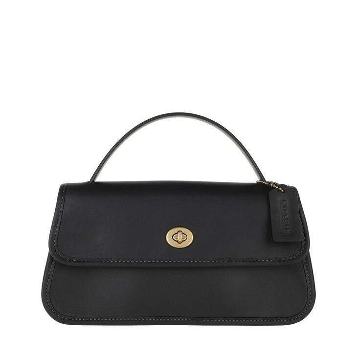 Handtasche, Coach, Turnlock Clutch Black