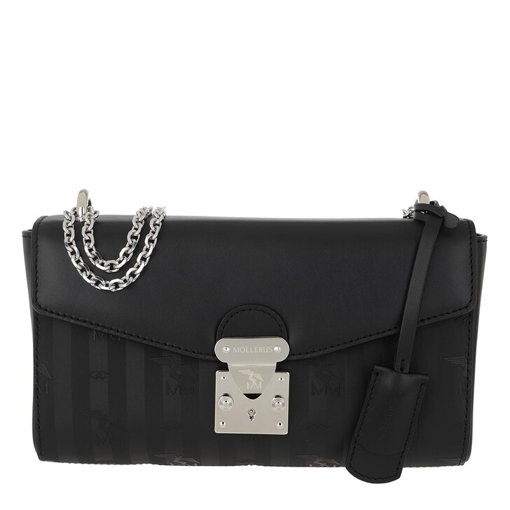 Handtasche, Maison Mollerus, Rovio Crossbody Chain Bag Black/Silver