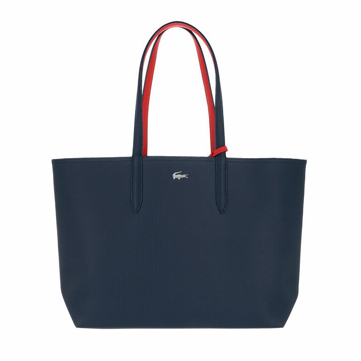 Handtasche, Lacoste, Anna Shopping Bag Marine Rouge