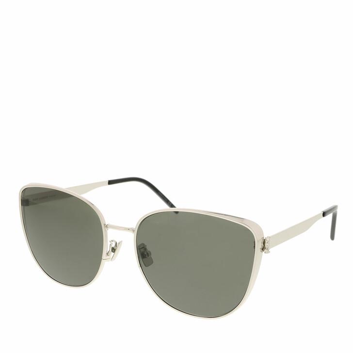 sunglasses, Saint Laurent, SL M89-004 61 Sunglass Woman Metal Silver-Silver-Grey