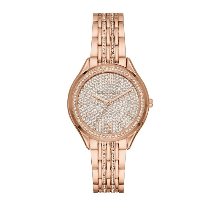 watches, Michael Kors, Mindy Three-Hand Stainless Steel Rose Gold