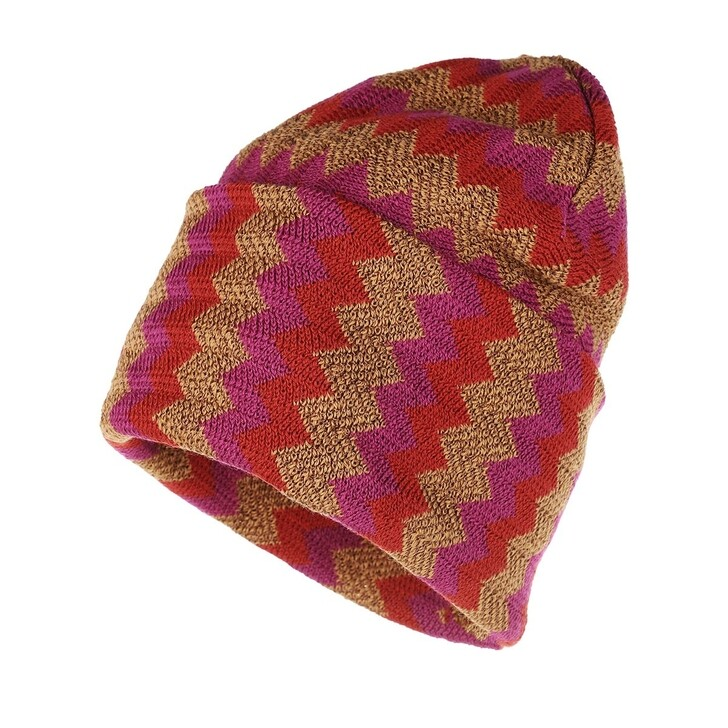 Mütze, Missoni, Chevron Knit Hat Multicolor