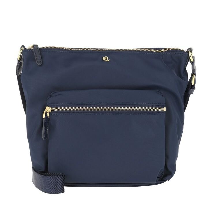 Handtasche, Lauren Ralph Lauren, Medium Parson 23 Shoulder Bag Navy