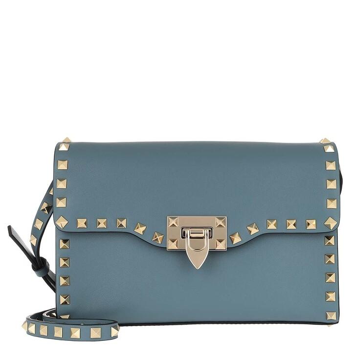 Handtasche, Valentino, Rockstud Crossbody Bag Amadeus Blue